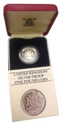 1983 Silver Proof One Pound Coin for sale
